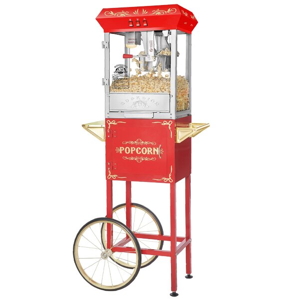 8 Oz. Carnival Popcorn Popper Machine with Cart by Superior Popcorn Company