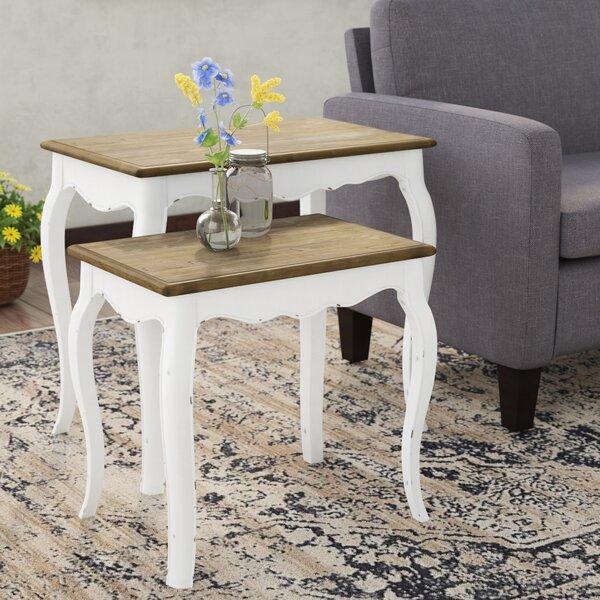 Kolton 2 Piece Nesting Table Set by Ophelia & Co.