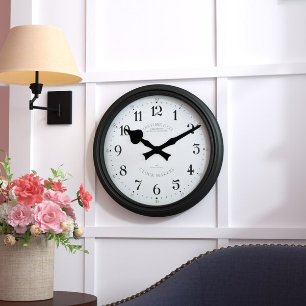 Lacourse Whisper Round 20 Wall Clock by Andover Mills