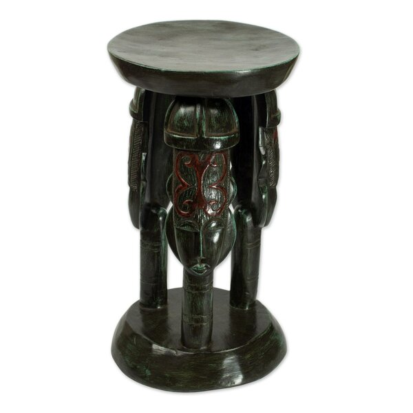 Saint Paul United Family Wood Accent Stool by Bloomsbury Market