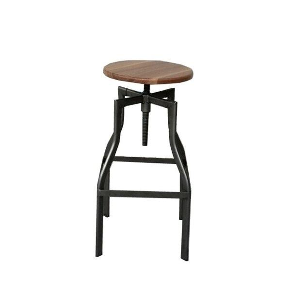 Abigayle Swivel Solid Wood Adjustable Height Bar Stool by Foundry Select Foundry Select