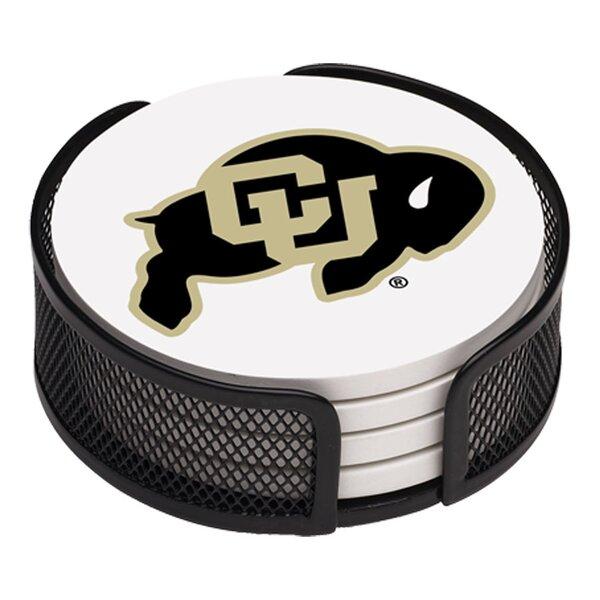 5 Piece University of Colorado Collegiate Coaster Gift Set by Thirstystone