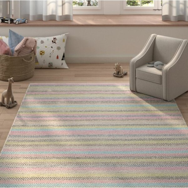 Sardis Hand-Woven Light Gray Area Rug by Harriet Bee