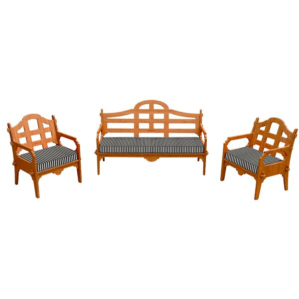 Burliegh 3 Piece Sofa Set with Cushions by Loon Peak