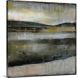 'Misty Horizon IV' by Jennifer Goldberger Painting Print on Wrapped Canvas by Great Big Canvas