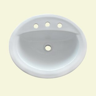 Trend Ceramic Oval Drop-in Bathroom Sink with Overflow ByYosemite Home Decor
