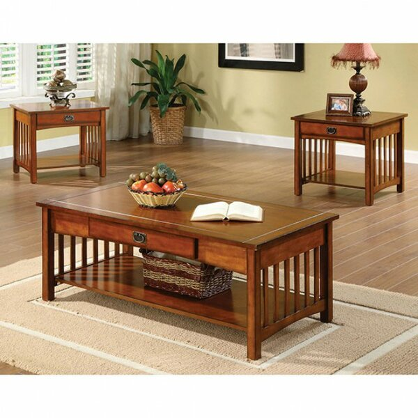 Sanor Elegantly Designed 3 Piece Coffee Table Set by Canora Grey Canora Grey