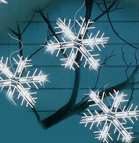 5 Light LED Lighted Snowflake Icicle Christmas Decoration by The Holiday Aisle