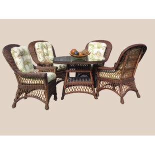 Rosado 5 Piece Dining Set with Cushions By Bay Isle Home