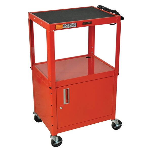 Metal 3 Shelf AV Cart by Offex