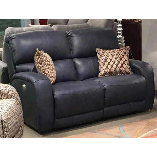 Fandango Leather Reclining Loveseat by Southern Motion