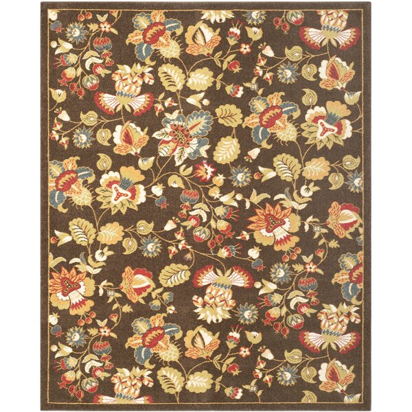 Newport Hand Hooked Brown Green Red Area Rug