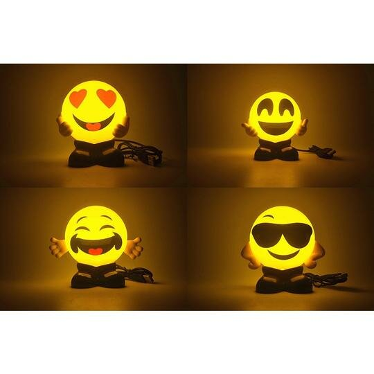 Emoji Foggy Warm Night Lights (Set of 4) by Myfuncorp