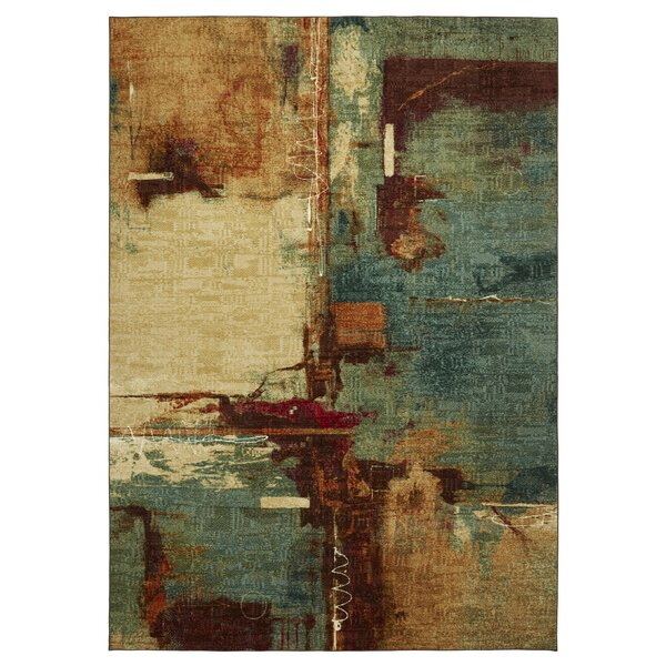 Florencia Aqua/Tan Area Rug by Langley Street