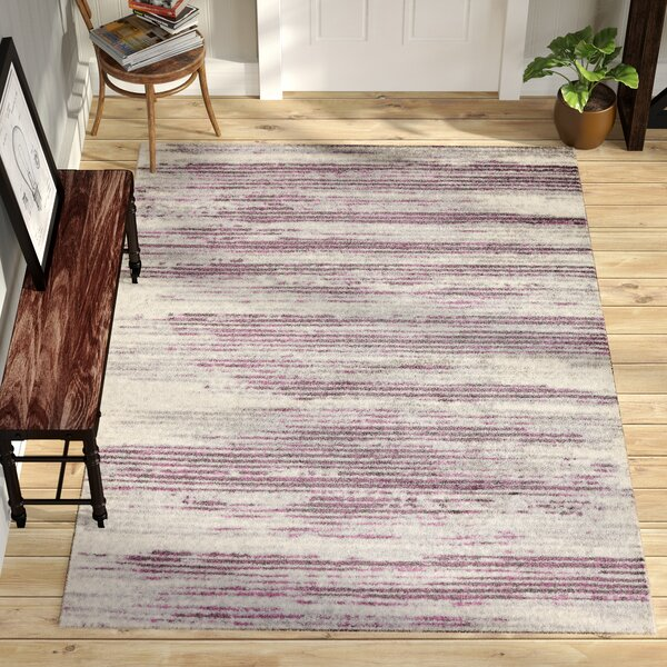 Orlie Stripe Ivory/Purple/Gray Area Rug by Trent Austin Design