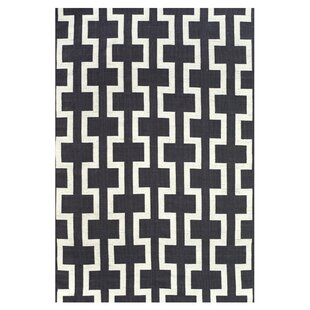 Sargasso Hand Woven Black/White Indoor/Outdoor Area Rug byFeizy Rugs