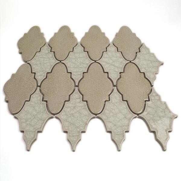 Roman Selection Glass Mosaic Tile in Iced Light Cream by Splashback Tile