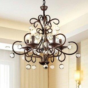 Large wrought iron chandelier wayfair frandsen wrought iron 5 light led mini chandelier aloadofball Image collections