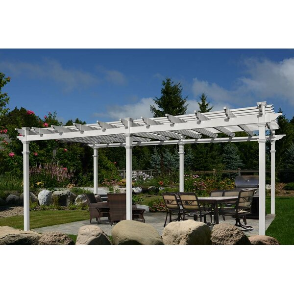 Regency 26 Ft. W x 14.5 Ft. D Vinyl Pergola by New England Arbors