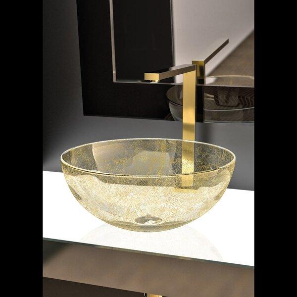 Laguna Glass Circular Vessel Bathroom Sink by Maestro Bath