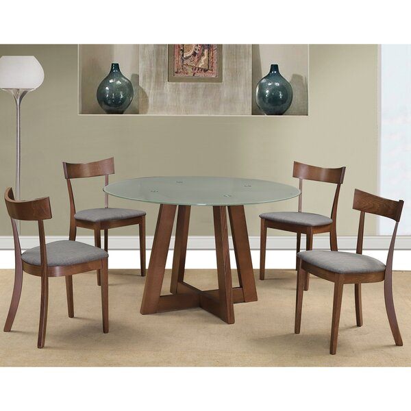 Timblin 5 Piece Solid Wood Dining Set by Wrought Studio Wrought Studio