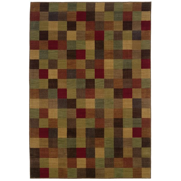 Ryles Brown/Red Area Rug by Red Barrel Studio