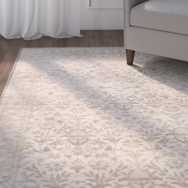 Orville Cream/Blue Area Rug by Charlton Home
