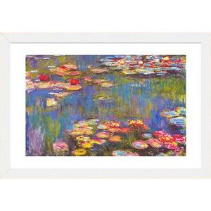 'Water Lilies, 1916' by Claude Monet Graphic Art Print by Alcott Hill
