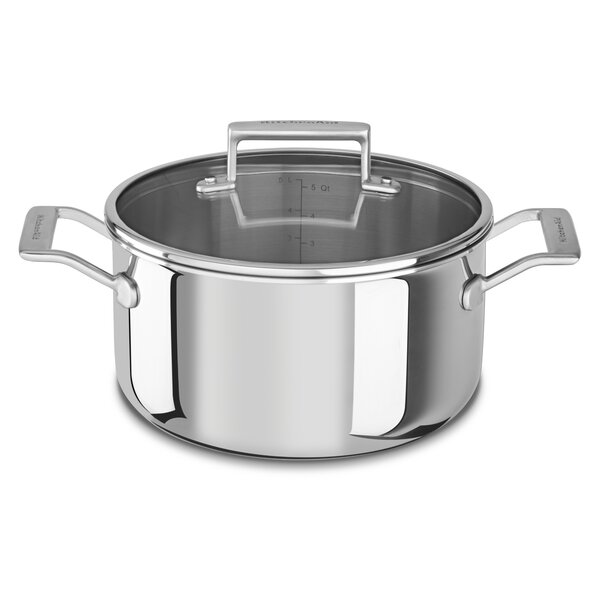 Tri-Ply Stainless Steel Stock Pot with Lid by Kitc