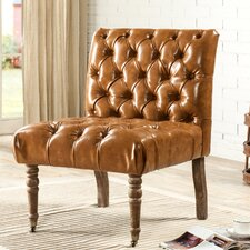 Hendrix Front Castered Leg Button Tufted Side Chair by Iconic Home