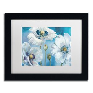 Blue Dance I by Lisa Audit Matted Framed Painting Print by Trademark Fine Art