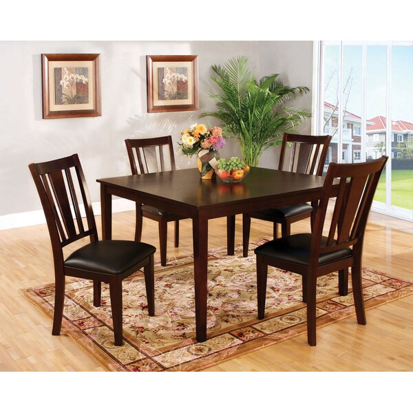 Voyles 5 Piece Solid Wood Dining Set by Red Barrel Studio