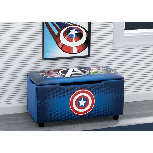 Marvel Avengers Faux Leather Cabinet Storage Bench By Delta Children