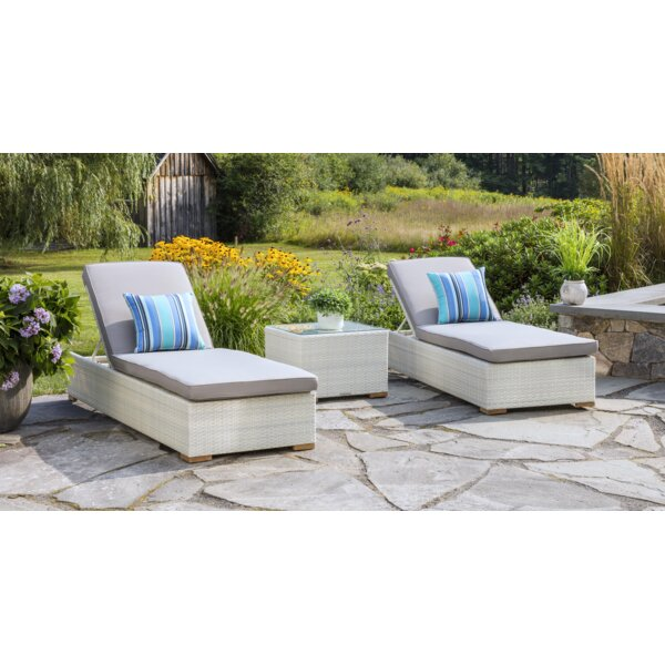 Mykonos  Sun Lounger Set with Cushions and Table by Madbury Road