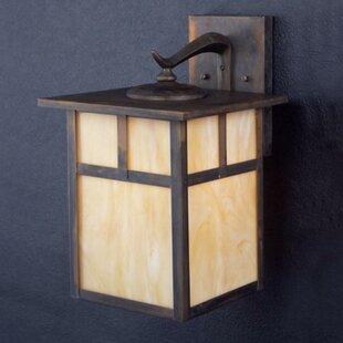 Best Reviews Daveney Rustic 1-Light Outdoor Wall Lantern By Bloomsbury Market