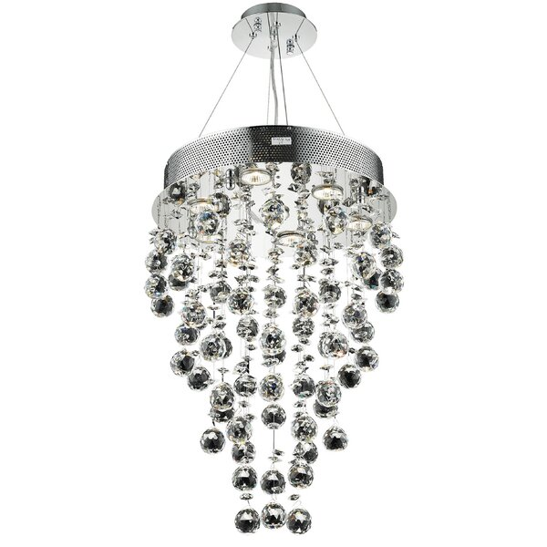 Deidamia 7 - Light Unique Tiered Chandelier With Crystal Accents By Everly Quinn