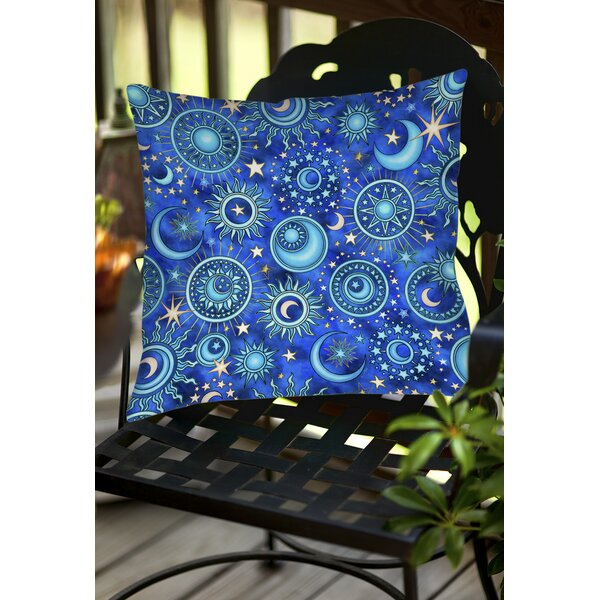Celestial Medallions Indoor/Outdoor Throw Pillow by Manual Woodworkers & Weavers