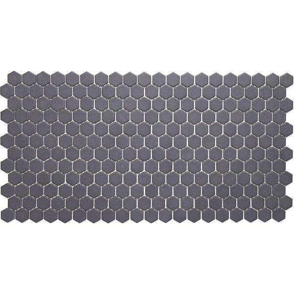 Dalton 12 x 24 Porcelain Mosaic Tile in Black by Itona Tile