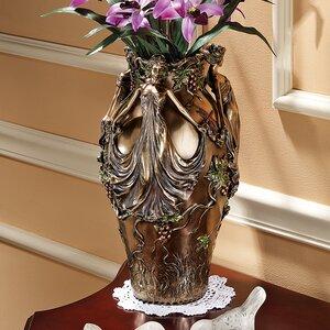 Dancing Maidens Centerpiece Urn Vase