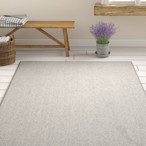 Meredith Charcoal Stripe Area Rug by Gracie Oaks