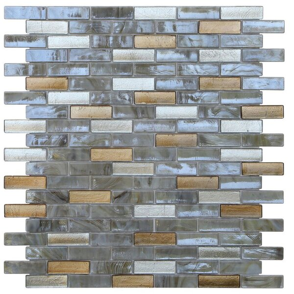 Opal 0.63 x 1.88 Glass Mosaic Tile in Abalone by Kellani