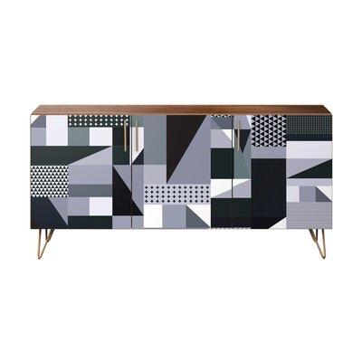 Kristyn Sideboard Brayden Studio Color (Base/Top): Brass/Walnut