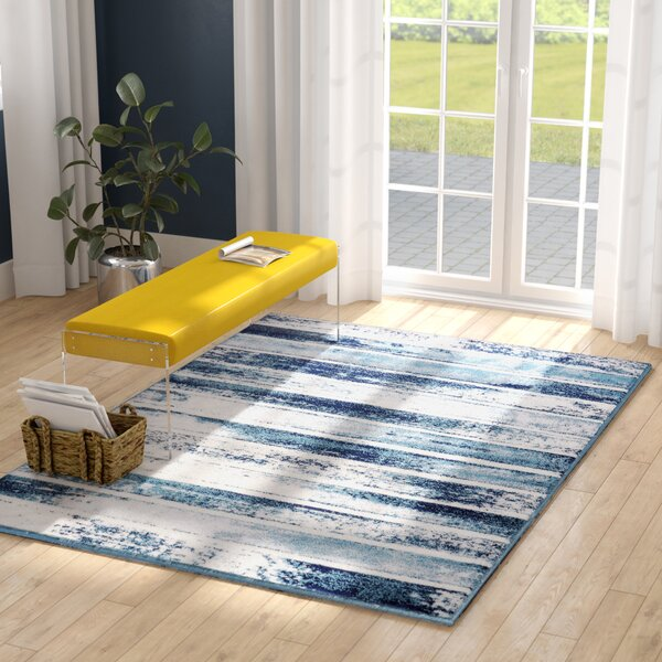 Peabody Beige/Navy Area Rug by Orren Ellis