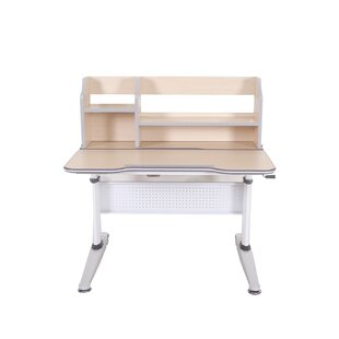 Hendricks Height Adjustable Tilted 38.18 W Writing Desk with Book Shelf by Zoomie Kids
