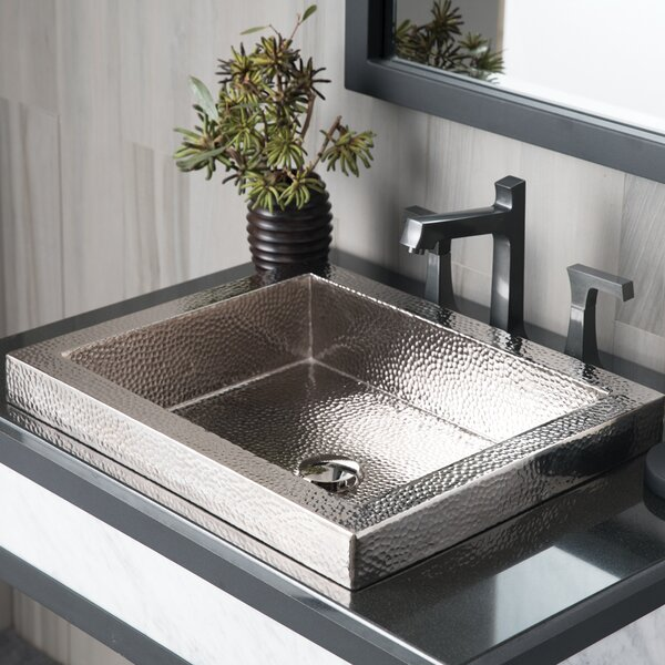 Tatra Metal Rectangular Drop-In Bathroom Sink by Native Trails, Inc.