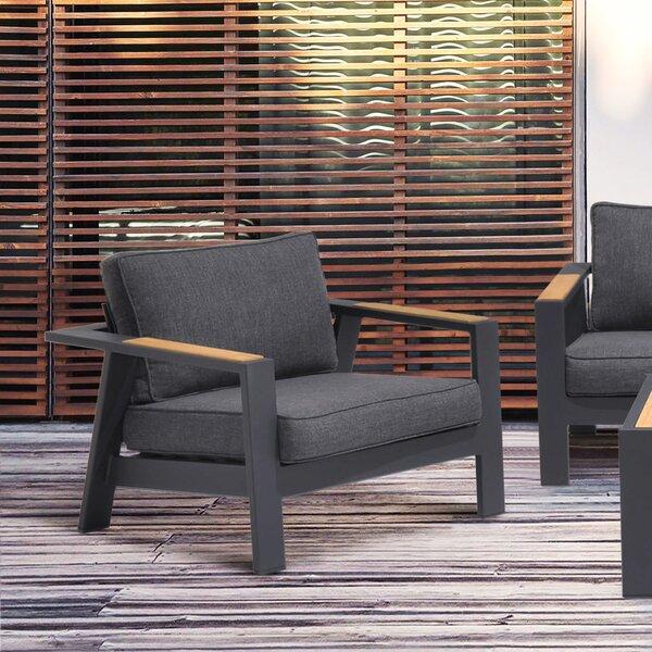 Aloyzas Outdoor Teak Patio Chair with Cushions by Latitude Run