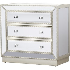 Laurena Mirrored 3 Drawer Chest