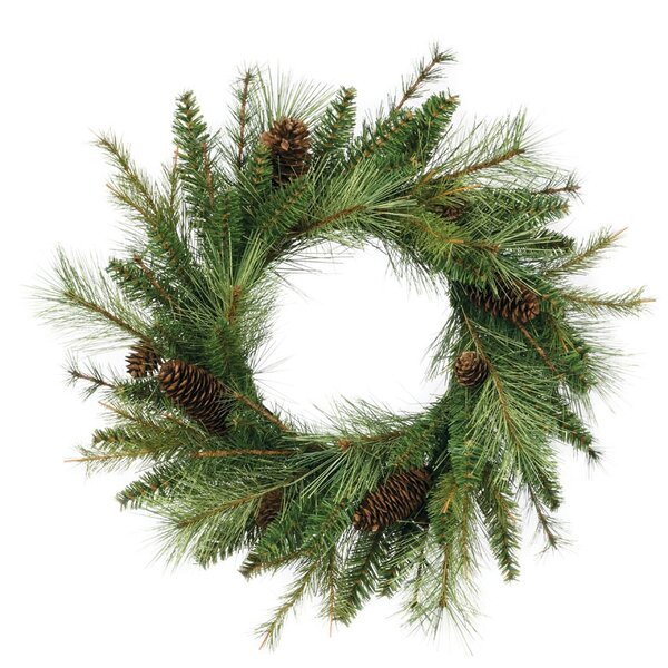 17 Mixed Pine and Cone Wreath by The Holiday Aisle