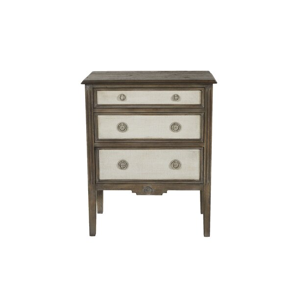 Best Price Holly Aged Wood 3 Drawer Chest