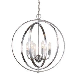 Extra large foyer chandelier wayfair bebington 6 light foyer chandelier aloadofball Image collections